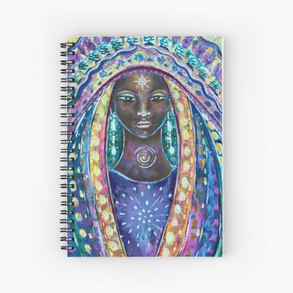 Flower Portal Angel Spiral Notebook