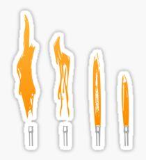 Flames of Science (Bunsen Burner Set) - Orange Sticker