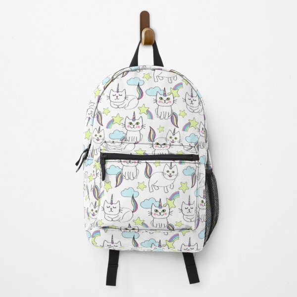 Doodle caticorn print Backpack