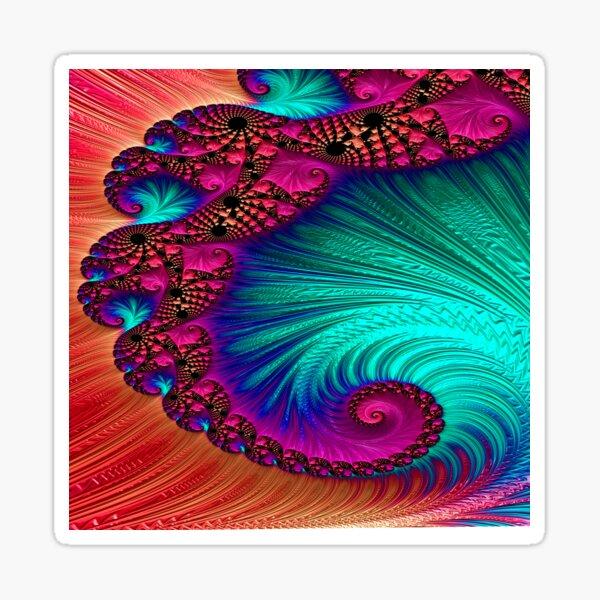 Iridescent spiral Sticker