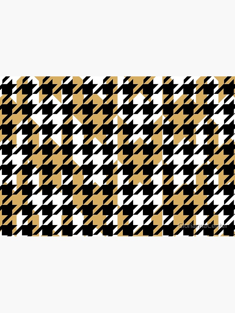 Double houndstooth pattern in black, white and butterscotch combo by GloriannaCenter