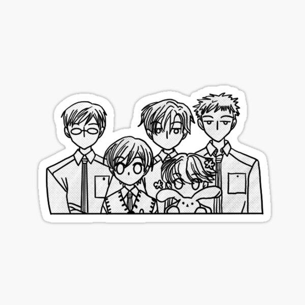 Ouran High School Host Club Manga Style Sticker