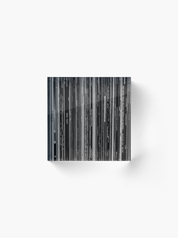 Alternate view of Alt Rock Records Black and White Acrylic Block