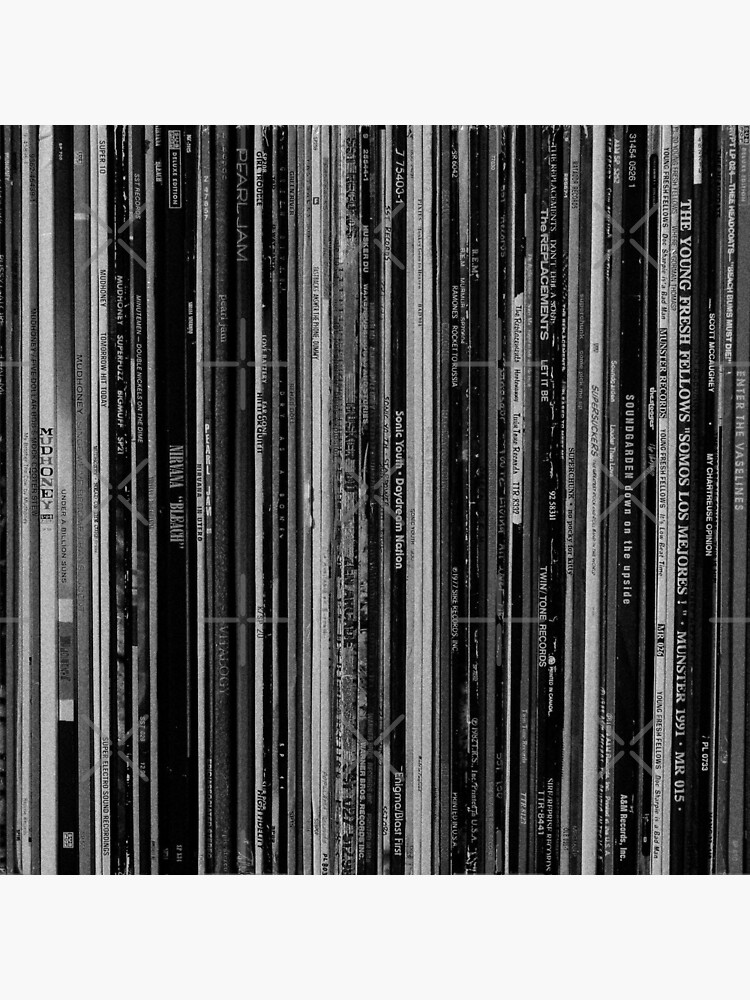Alt Rock Records Black and White by Iheartrecords