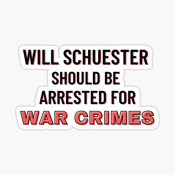 Glee Meme | Funny Glee Quote | Will Schuester Should be Arrested for War Crimes Sticker