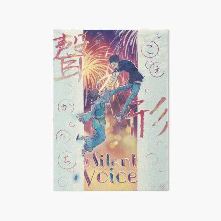 A Silent Voice - Koe no Katachi poster Art Board Print