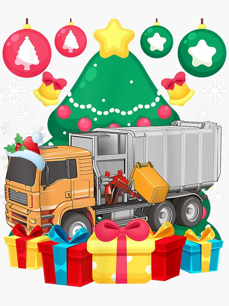 Garbage Truck Christmas Tree Lights Ornaments Xmas Pajamas by Boris-Beck-1487