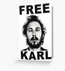 Free Karl Greeting Card