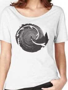 The Twilight Zone : BW // DJ T-shirt femme coupe relax