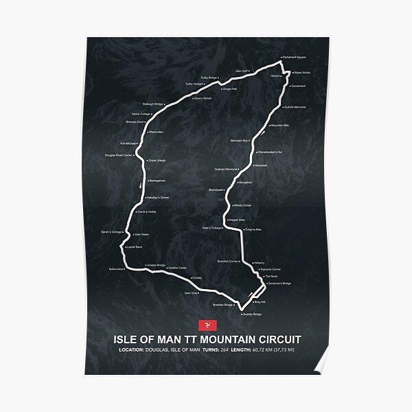 Isle of Man TT - Racetrack Map Poster
