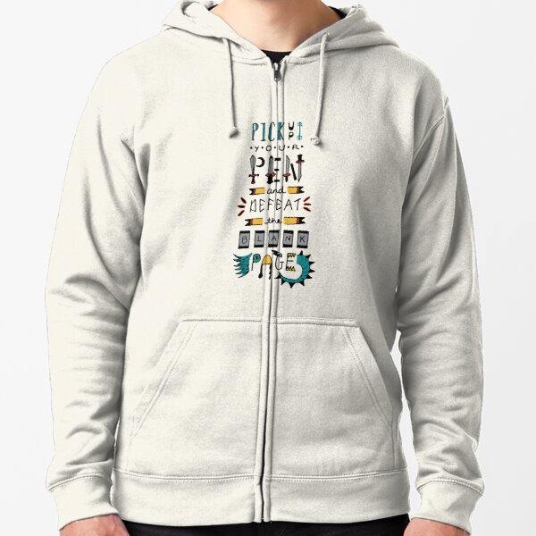 The Blank Page Monster Zipped Hoodie