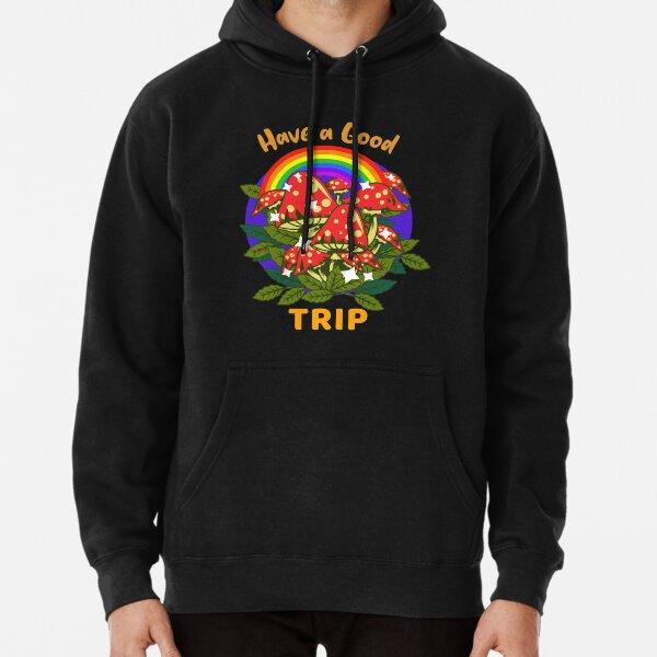 Trippy Mushroom Hallucination Glitch Logo Unisex Men/'s Cotton Trendy Printed Sweatshirt Jumper Pullover