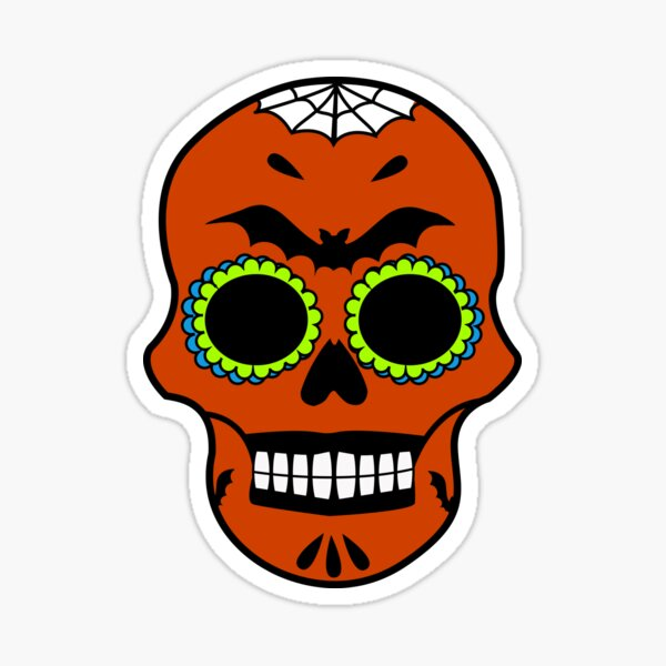 Crâne mexicain spécial Halloween Sticker