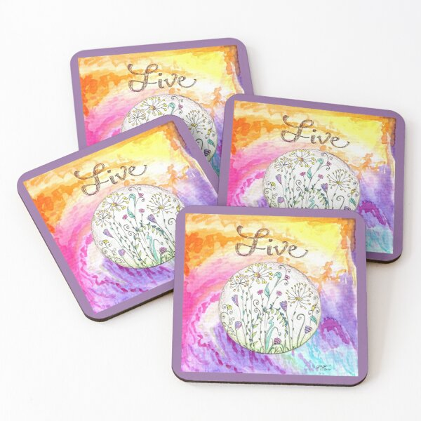 Live Coasters (Set of 4)