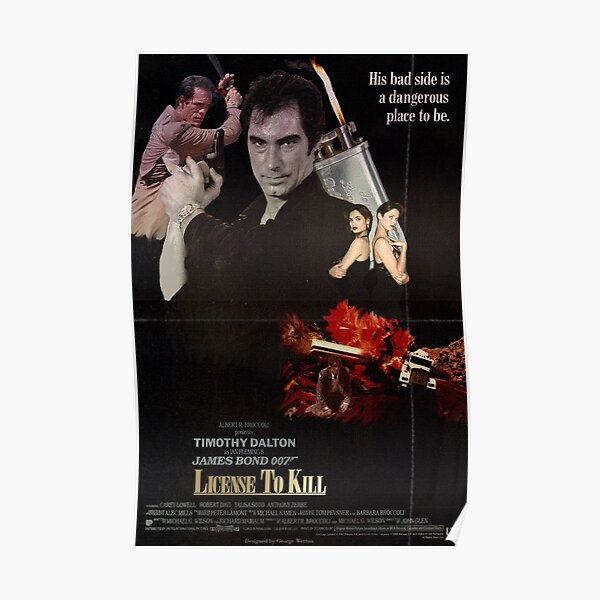 Affiche Licence to Kill Poster