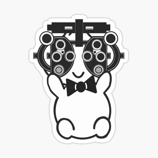 Dr. Bao Needs His Eye Exam Too! Sticker