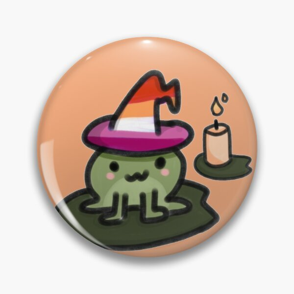Lesbian witch frog Pin