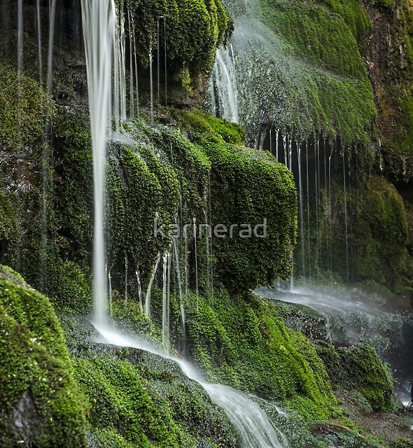 A Summer Waterfall by Karine Radcliffe