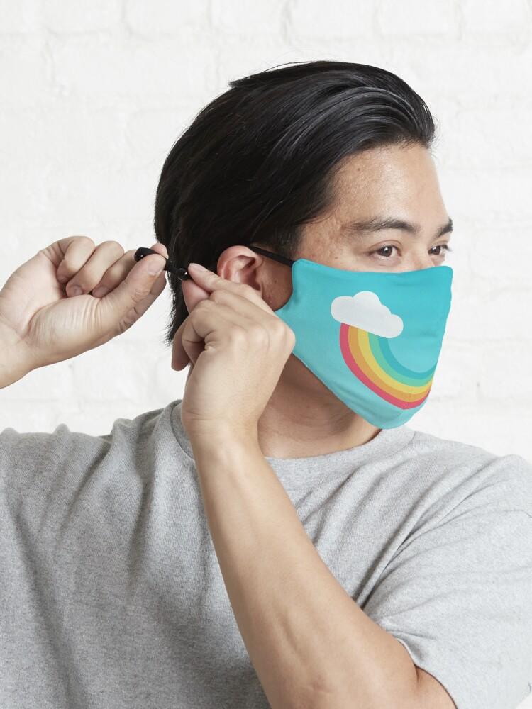 Alternate view of Rainbow Smile Mask