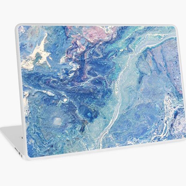 Blue and Purple Pour Painting---- Frozen Laptop Skin