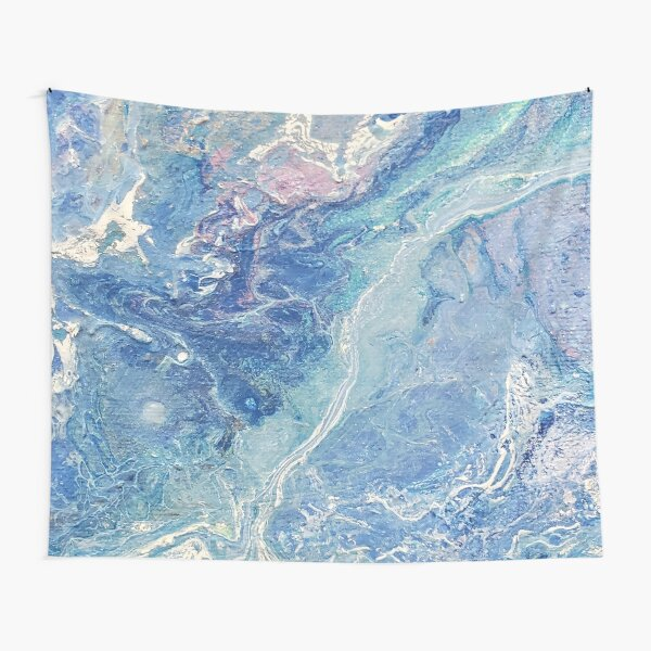 Blue and Purple Pour Painting---- Frozen Tapestry