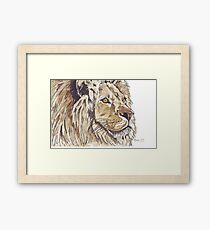 Dominion (African Lion) Framed Print