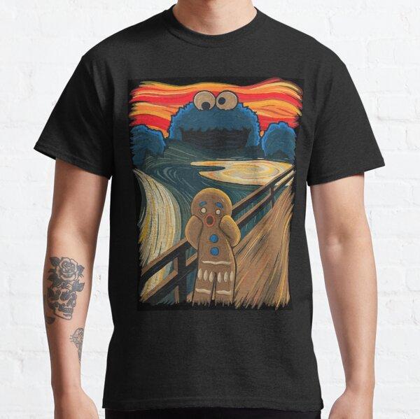 Biscuit de pain d'épice hurlant, parodie d'image de Munch T-shirt classique