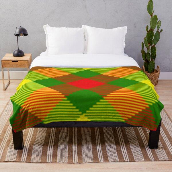 Africa Plaid Throw Blanket