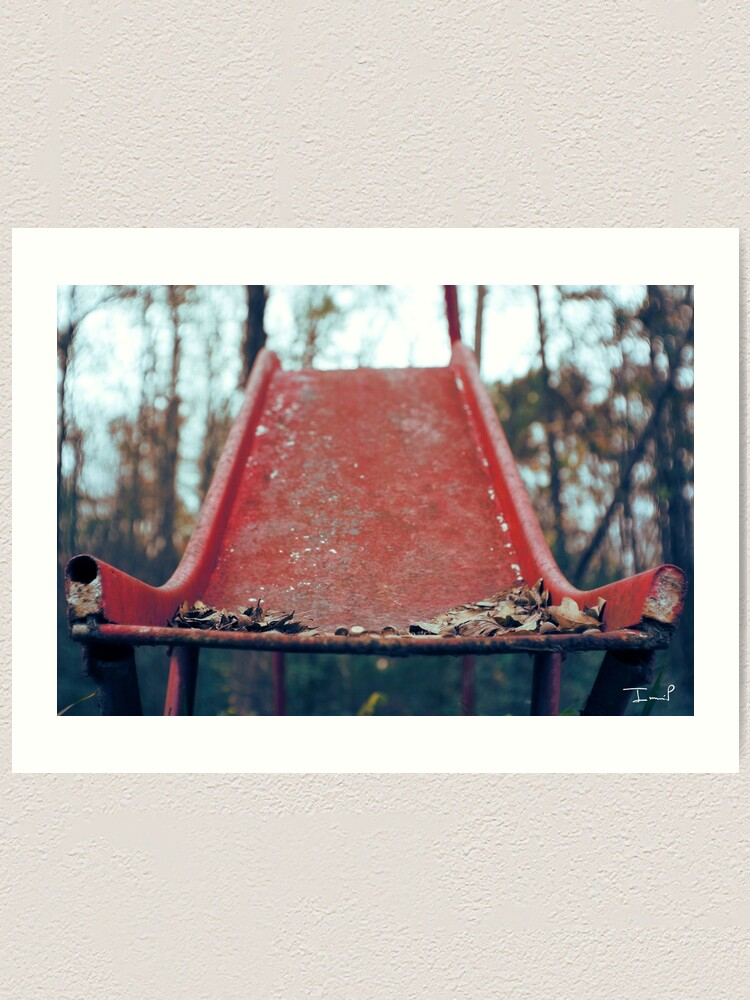 Alternate view of Rusty Slide Art Print