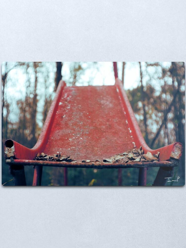 Alternate view of Rusty Slide Metal Print