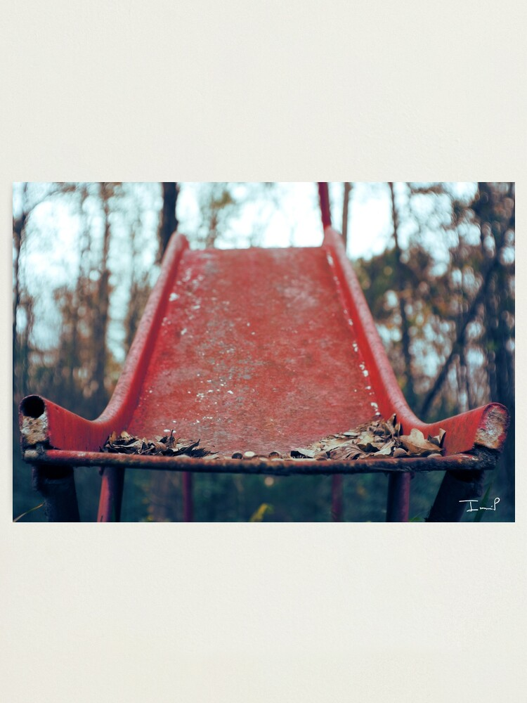 Alternate view of Rusty Slide Photographic Print