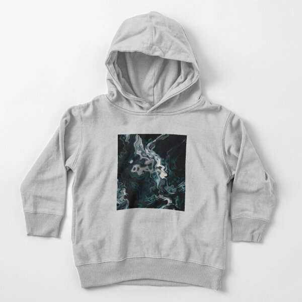 Acrylic Abstract Black And White Toddler Pullover Hoodie