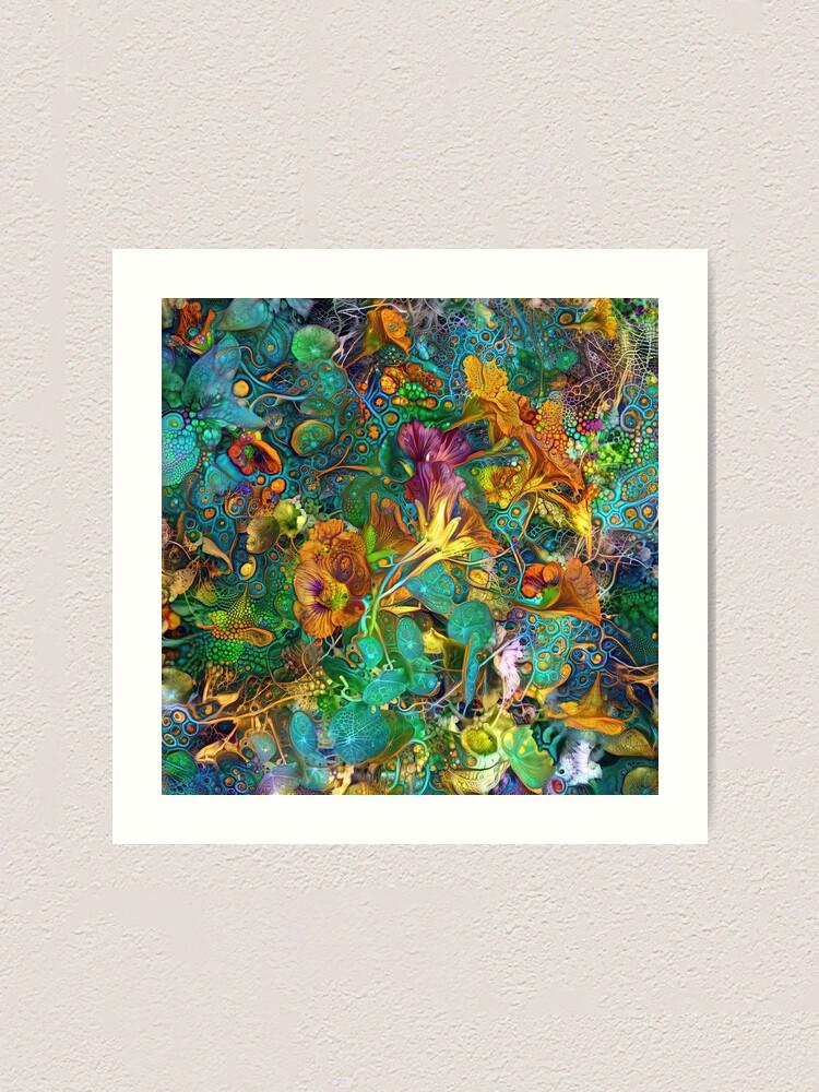 Alternate view of Deep dream abstraction Art Print