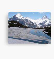 Bachalpesee with Fiescherhornen in the background, Switzerland Canvas Print