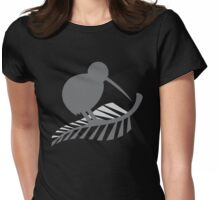 Kiwi Bird and a Silver fern New Zealand  Womens Fitted T-Shirt