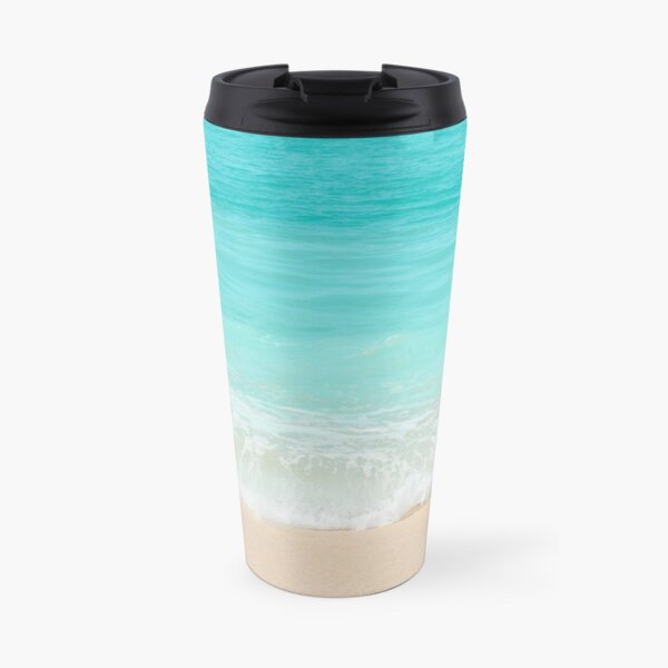 Bright Blue Calm Ocean Shore Travel Mug