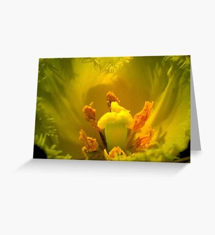 Yellow Tulip Heart Greeting Card