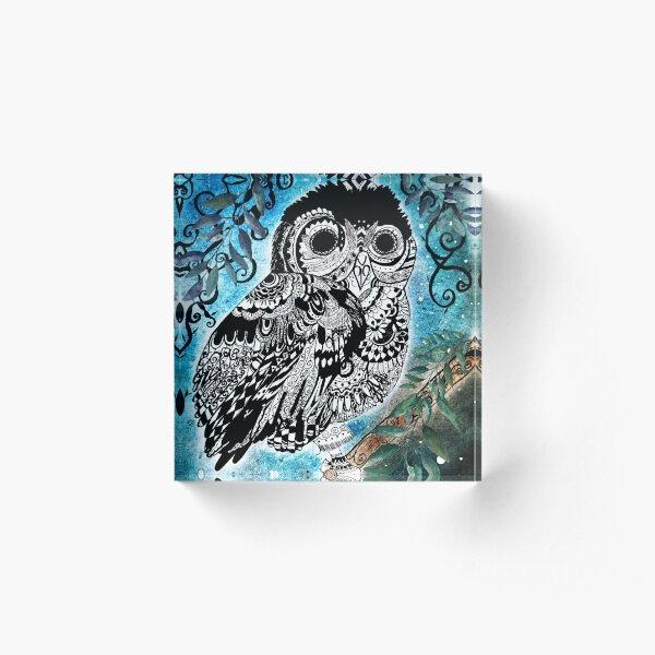 Night Owl Acrylic Block