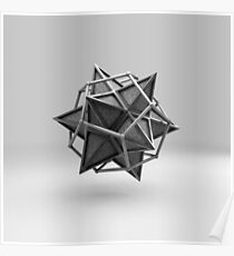 Caged Stellated Dodecahedron Poster