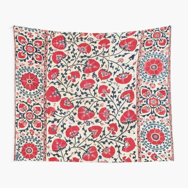 Shakhrisyabz Suzani Uzbekistan Floral Embroidery Print Tapestry