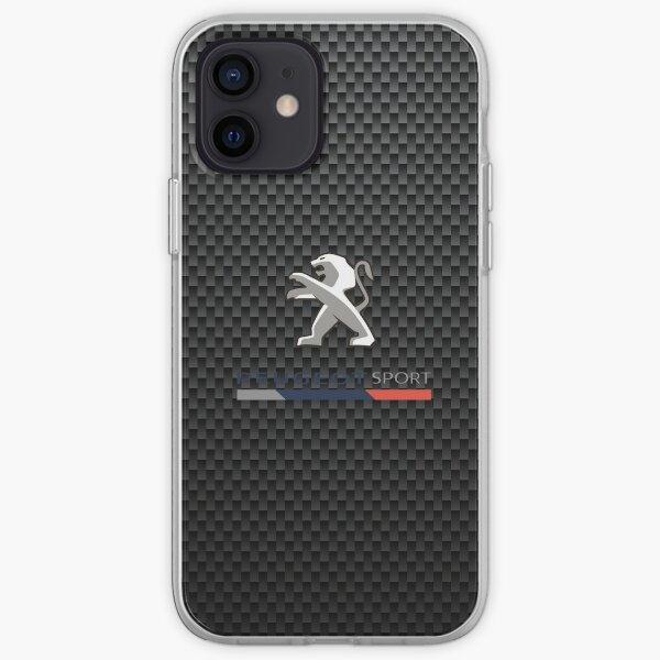 Logo Peugeot sport carbone Coque souple iPhone