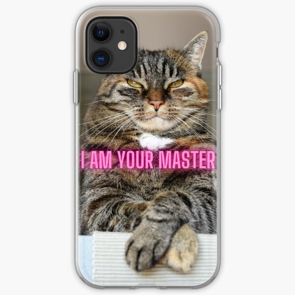 The bossy cat iPhone Soft Case