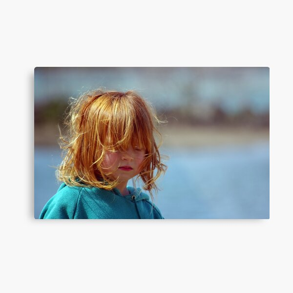 A little girl called Red Metal Print