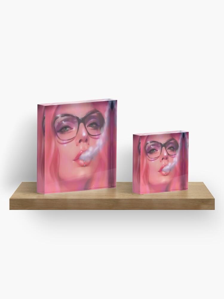 "Alternate view of ""Exhale"" Self-Portrait Acrylic Block"