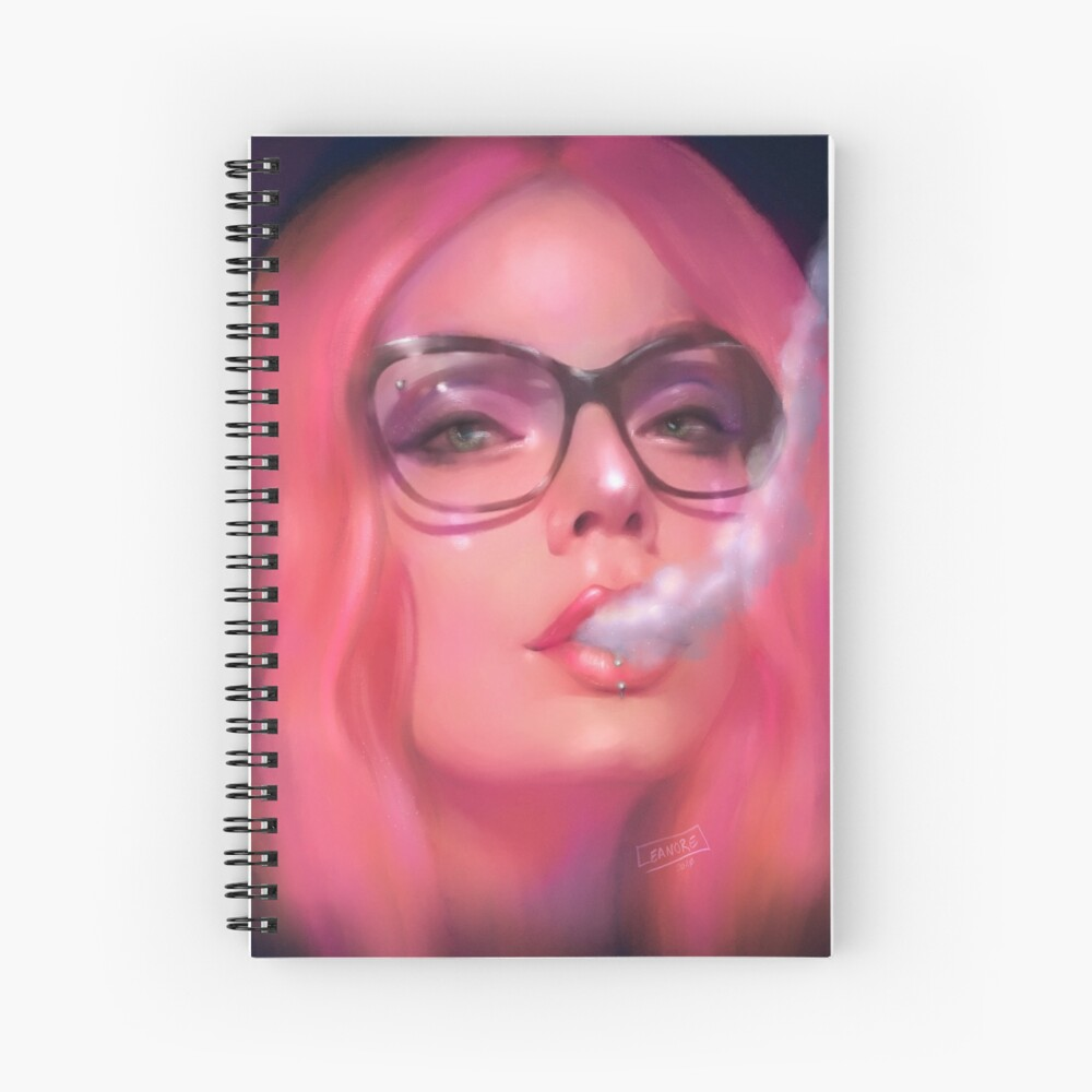 """Exhale"" Self-Portrait Spiral Notebook"