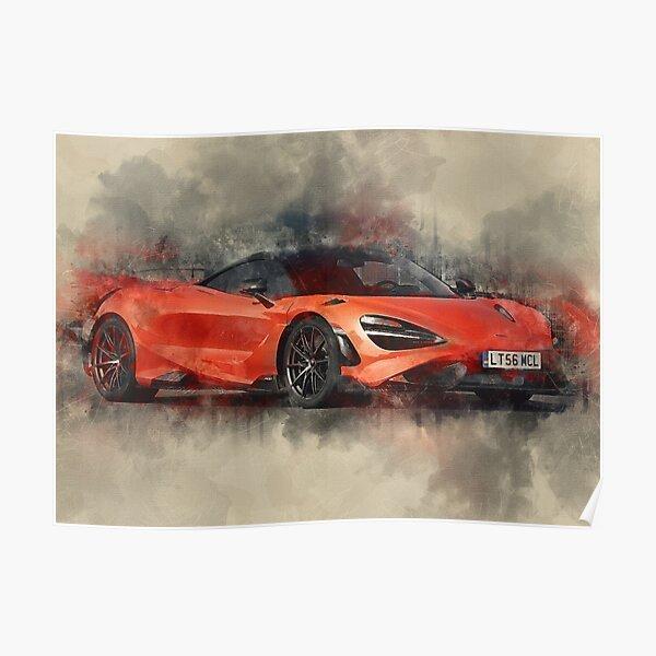 McLaren 765LT 2020 Aquarelle Poster