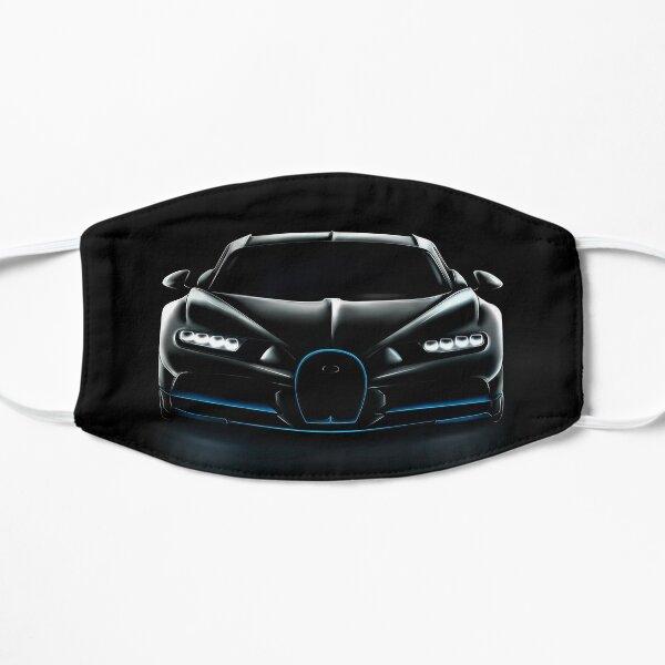 Bugatti Chiron noire et bleue Masque sans plis