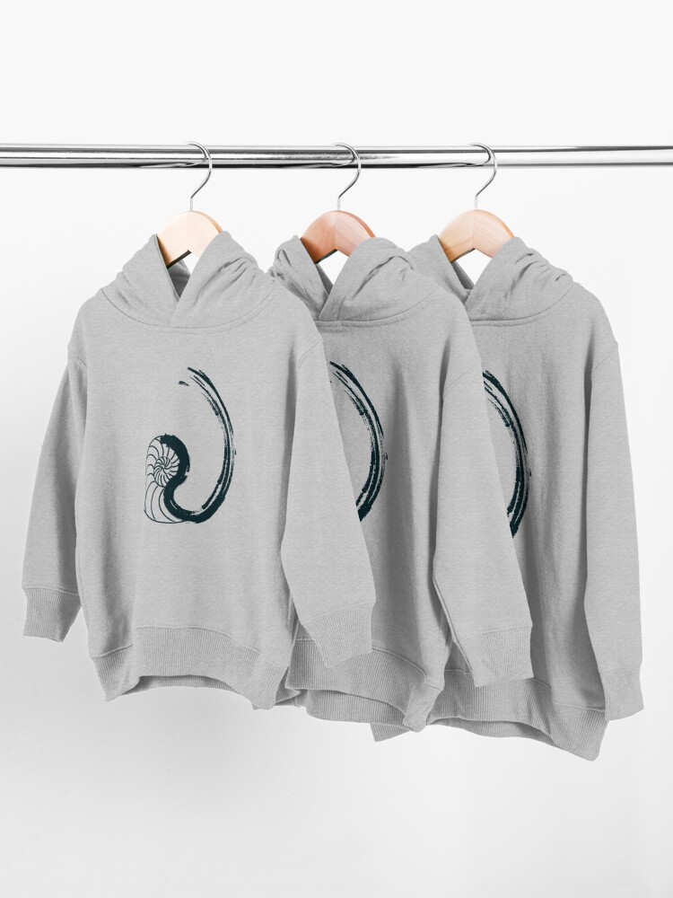 Alternate view of Golden Ratio - Nautilus Toddler Pullover Hoodie