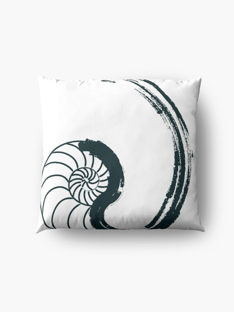 Alternate view of Golden Ratio - Nautilus Floor Pillow