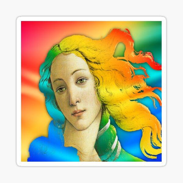 Botticelli Birth Of Venus Pop Color Sticker